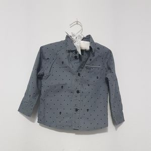 Hurley Skull Polka Dot Buttown Down Toddler Shirt